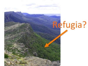 Can you spot the refugia? Neither could we by looking, but genetic data suggests protected side-slopes